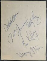 Hank Aaron Signed Album Page Circa 1971 PSA/DNA & JSA Certified AUTOS + 4 others