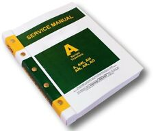 SERVICE MANUAL FOR JOHN DEERE A AW AH AN AR AO TRACTOR REPAIR TECHNICAL
