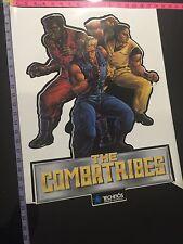 The Combatribes Vintage Side Cabinet Arcade Sticker New Original