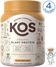 KOS Organic Plant Based Protein Powder ? Raw Organic Vegan Protein Blend, 1.3