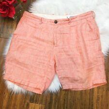Jomers Men's Bright Orange Bermuda Casual Beach Lounge Summer Shorts Size 35
