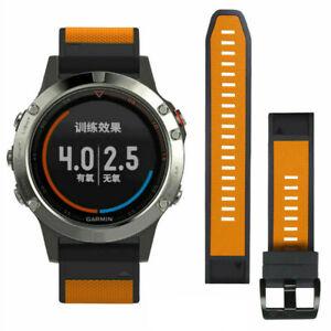 For Garmin Fenix 6/6s/6x/5x/5s Strap Silicone Fitness Quick Release Sports Band
