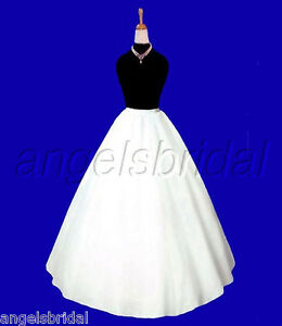A-line Semi Full Hoopless Medieval Costume Dress Crinoline Petticoat Skirt Slip
