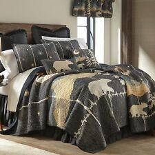 Donna Sharp Moonlit Bear Quilted Rustic Country Cotton Twin 2-Piece Set