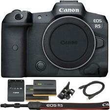 Canon EOS R5 Mirrorless Digital Camera with Extra Canon LP-E6N Battery)