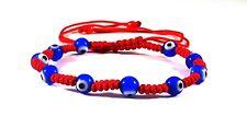 Red Multi Blue Evil Eye Bracelet Adults / Pulsera de Ojo Turco Azul + 1Free Gift