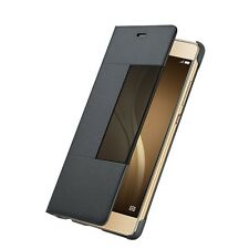 Original Smart View Windows Flip Leather Case Cover For Huawei P9 P9 plus Case