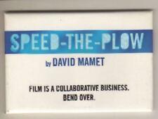 "David Mamet   ""Speed-The-Plow""   Souvenir Magnet   Broadway   2008   REVIVAL"