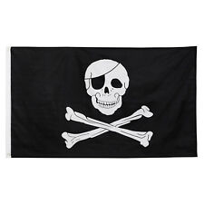 Pirate Flag 5ft x 3ft Skull & Crossbones Boats Tree-House Garden Party Hanging