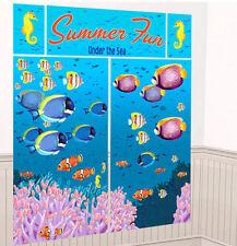 UNDER SEA Scene Setter Luau party wall decoration fish ocean summer beach fun