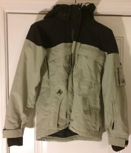 K2 Outerwear Jacket Tan and Black Zippered Unisex Size Adult S