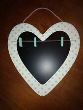 Heart Shaped Blackboard Memo Board Wall Hanging Display Board With Pegs
