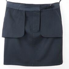 New BOTTEGA VENETA Womens Black Skirts EU 50 US 14 Wool Blend Outside Pockets
