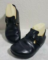 Birkenstock London Black Leather Footbed Buckle Shoes Size Women's Size 5 EU 36