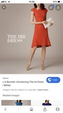 Lk Bennett Uk 16 -14 Red Ire Dress, Party, Christmas, Fit And Flare