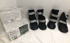 New ListingGood2Go All-Weather Dog Boots Size Xl Black & Gray New Other