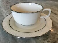 Moon Glow by Franciscan Masterpiece China FLAT CUP & SAUCER SET, Interpace, USA