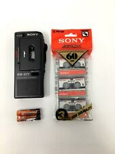 Sony Bm-577/575 Portable Microcassette Voice Recorder W/ 3 Tapes + 90 Days War.