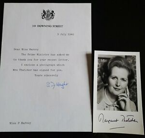 MARGARET THATCHER HAND SIGNED PHOTO JUST ONE YEAR AFTER BECOMING PRIME MINISTER