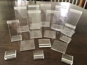 A Lot Of Vintage 15Pcs Assortment Of Acrylic Jewelry Display For Earring,bracele