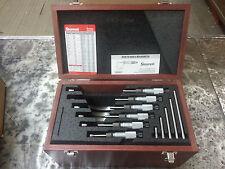 Starrett SV226MBXRLZ 0-150mm outside micrometer set w/ standards in case 65238