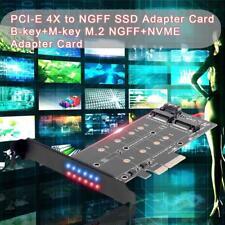PCI-E 4X to NGFF SSD PCIE Adapter Card B-key+M-key M.2 NGFF+NVME Dual Interface