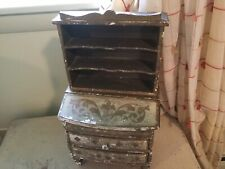 The best vintage Italian florentine Hutch~dresser~jewelry chest gold & cream