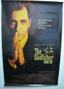 """The GodFather Part III 3 Al Pacino Movie S/S Large 1990 Original Poster 27x40"""""""