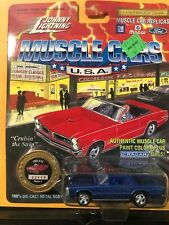1/64 JOHNNY LIGHTNING MUSCLE CARS USA 1965 PONTIAC GTO CONVERTIBLE BLUE