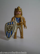 PLAYMOBIL -Medieval Figure-3800 SIR CHRISTOPHER -GOLD KNIGHT-FLEUR DE LIS KING.