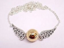 Harry Potter Golden Snitch Necklace, W/Gift Box!