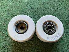 Vintage Excalibur Figure White Skateboard Roller Skate Wheel Lot Of 2