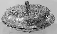 FABULOUS, ORNATE Kirk REPOUSSE Sterling Silver COVERED VEGETABLE DISH