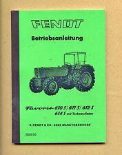 Fendt Favorit 612 S  Betriebsanleitung Schlepper 1976