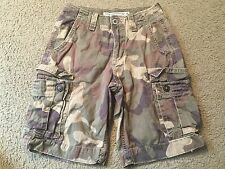 AMERICAN EAGLE OUTFITTERS Classic Fit Green Camo Casual Cargo Shorts mens 26