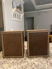 Speakers, Vintage Pair Japan 16 cm 3w wooden speaker boxes