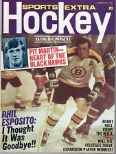 1974 (Mar.) Sports Extra Hockey magazine, Phil Esposito, Boston Bruins ~ VG