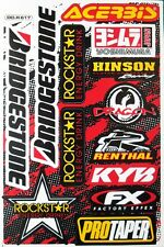 Motocross Bike Sticker MTB BMX Helmet Rockstar Energy Graphic Kits Decal Sheet