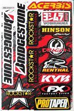Motocross Bike Sticker MTB BMX Helmet Rockstar Energy Graphic Kits Decal Sheet