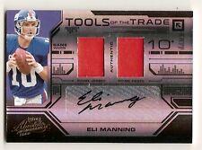 2008 Absolute Eli Manning Auto Dual Jersey Pants 1/2 Autograph Prime Giants
