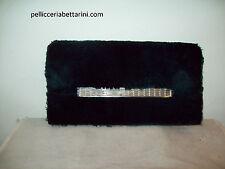 borsa pochette pelliccia castoro swarovsky pelle fur beaver bag handbag Pelzbeut