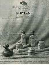 PUBLICITE  1968    BABYLANE   produits de beauté bébé