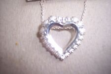 "Macys Sterling Silver Brand Heart Shaped Pendant 16"" Necklace +2"" SU .925 $50"