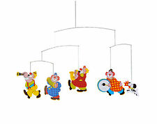 Flensted Circus Clowns Hanging Baby Child Mobile Kinetic Art Nursery Decor