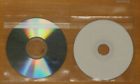 500 Generic CPP Clear Plastic CD DVD Sleeve with Sealable Flap