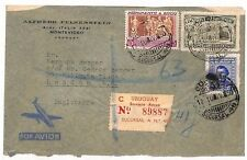 VV509 1950 Uruguay Sucursal London GB England Cover {samwells-covers}