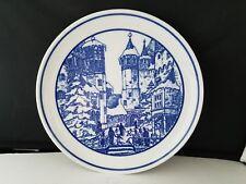 """Hutschenreuther Germany Collector Plate Weihnacht Auf Burg Eltz 7 3/4"""" d"""