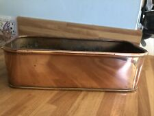 More details for vintage early 20thc solid copper rectangle planter container pot vgc