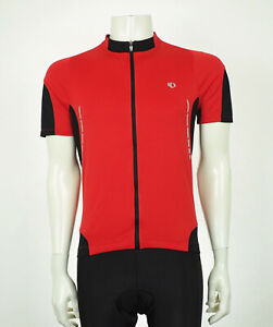 Pearl Izumi Elite Red Full-Zip Dry Bicycle Cycling Jersey Mens Large