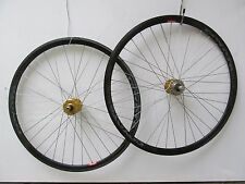 Gold DW Coyote TRA-FIX Wheel set pair 700c flip flop 16T Fixed single speed fixi